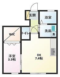 セジュールSAI[1階]の間取り