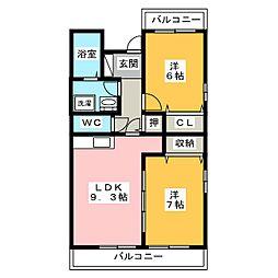 トレンタ・ノーベ[3階]の間取り