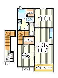 アニメート欅III[2階]の間取り