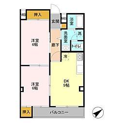 パストラルアサカ[3階]の間取り