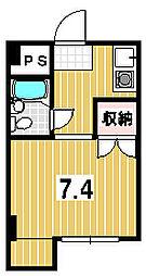 きんこん館[105号室]の間取り