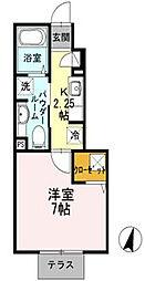 エスポワール鵠沼[1階]の間取り