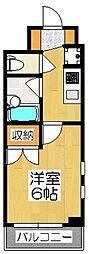LA FONTE CAMPANA[4階]の間取り