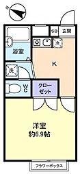 プレジール花島公園I[2階]の間取り