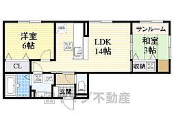 Casa filante Vol.2 1階2LDKの間取り