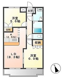 KASUMIヒルズ[1階]の間取り