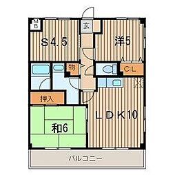 神奈川県横須賀市久里浜2丁目の賃貸マンションの間取り