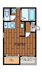 シャングリラ町田[2階]の間取り