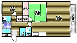 コスモハイム錦[2階]の間取り