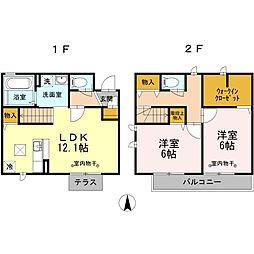 [テラスハウス] 神奈川県座間市立野台1丁目 の賃貸【/】の間取り