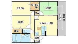 ロイヤルグレース花田A棟[A202号室]の間取り