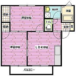 広島県安芸郡海田町東昭和町の賃貸アパートの間取り