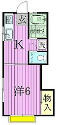 宮内マンション[2階]の間取り