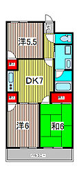 メゾンドールKI[4階]の間取り