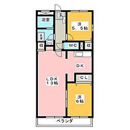 フロラシオンAI[3階]の間取り