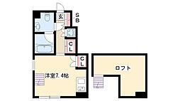 愛知県名古屋市南区岩戸町の賃貸アパートの間取り