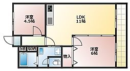 ブライト本郷[7階]の間取り
