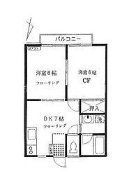 バウムヘン[2階]の間取り