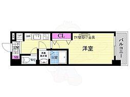 JR東海道・山陽本線 西大路駅 徒歩10分の賃貸マンション 6階1Kの間取り
