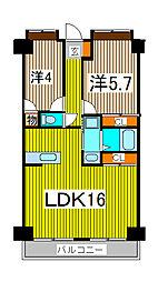 新田第11ビル[4階]の間取り