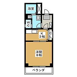 白壁レジデンス[5階]の間取り