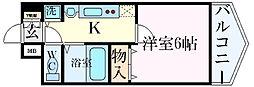 プレサンス新栄リミックス 9階1Kの間取り