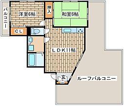 兵庫県神戸市中央区籠池通3丁目の賃貸マンションの間取り