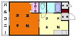 ラフォーレ大和[2階]の間取り