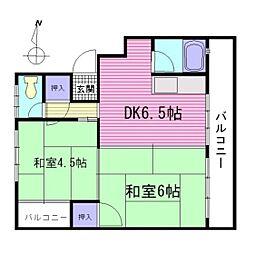 広島県広島市南区丹那町の賃貸アパートの間取り