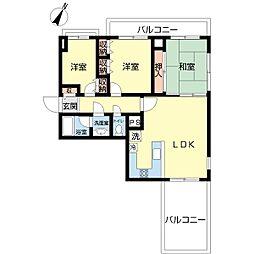 新潟県新潟市中央区西大畑町の賃貸マンションの間取り
