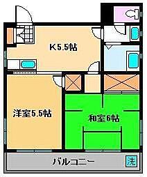 千住萩原マンション[4階]の間取り