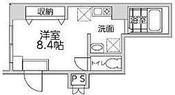 神奈川県横浜市中区石川町1の賃貸マンションの間取り