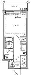 エスカーサ京都四条梅津 5階1Kの間取り