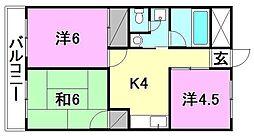 ライブタウン中村[305 号室号室]の間取り