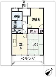 SSパークハイツ[4階]の間取り