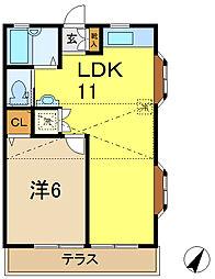 ロイヤルハイム吉原2[1階]の間取り
