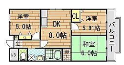 友井グレイス[201号室]の間取り