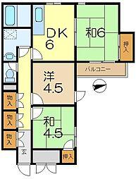 洋光台プレステージュ ミネギシ[4階]の間取り