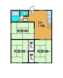 名倉コーポ[1階]の間取り