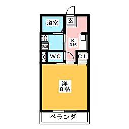 コージーハイツ小塚[2階]の間取り