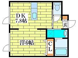 愛夢さっぽろ平岡BLD[3階]の間取り