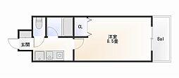 大阪府大阪市西成区太子1丁目の賃貸マンションの間取り