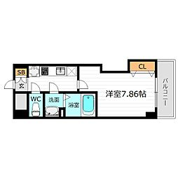 Luxe都島II[5階]の間取り