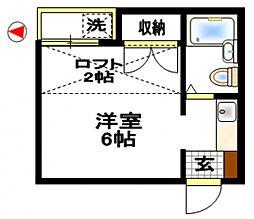 イーストキャッスル[2階]の間取り