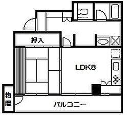 埼玉県さいたま市中央区大戸4丁目の賃貸マンションの間取り