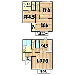 [テラスハウス] 神奈川県横浜市旭区中沢3丁目 の賃貸【/】の間取り