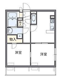 神奈川県相模原市中央区相生4丁目の賃貸マンションの間取り
