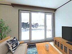 札幌市南区石山四条6丁目 戸建て 4LDKの居間