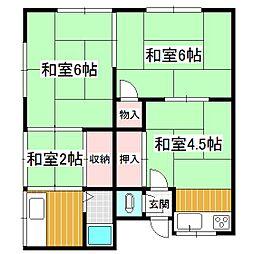 松井ハイツA[202号室]の間取り