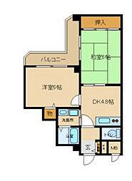 兵庫県尼崎市崇徳院2丁目の賃貸マンションの間取り
